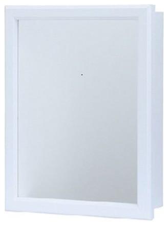 White Swing Door Medicine Cabinet 16 X 20 Transitional Medicine Cabinets