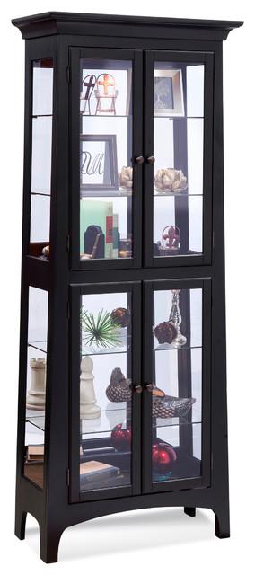 Philip Reinisch Lancaster Curio Cabinet, Pirate Black