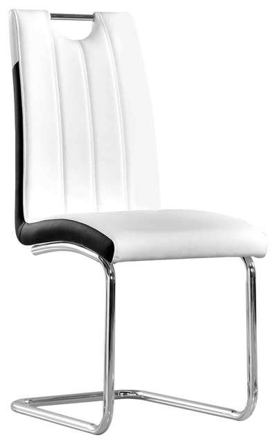 Bono Upholstered Modern Side Chairs, White Side Chair
