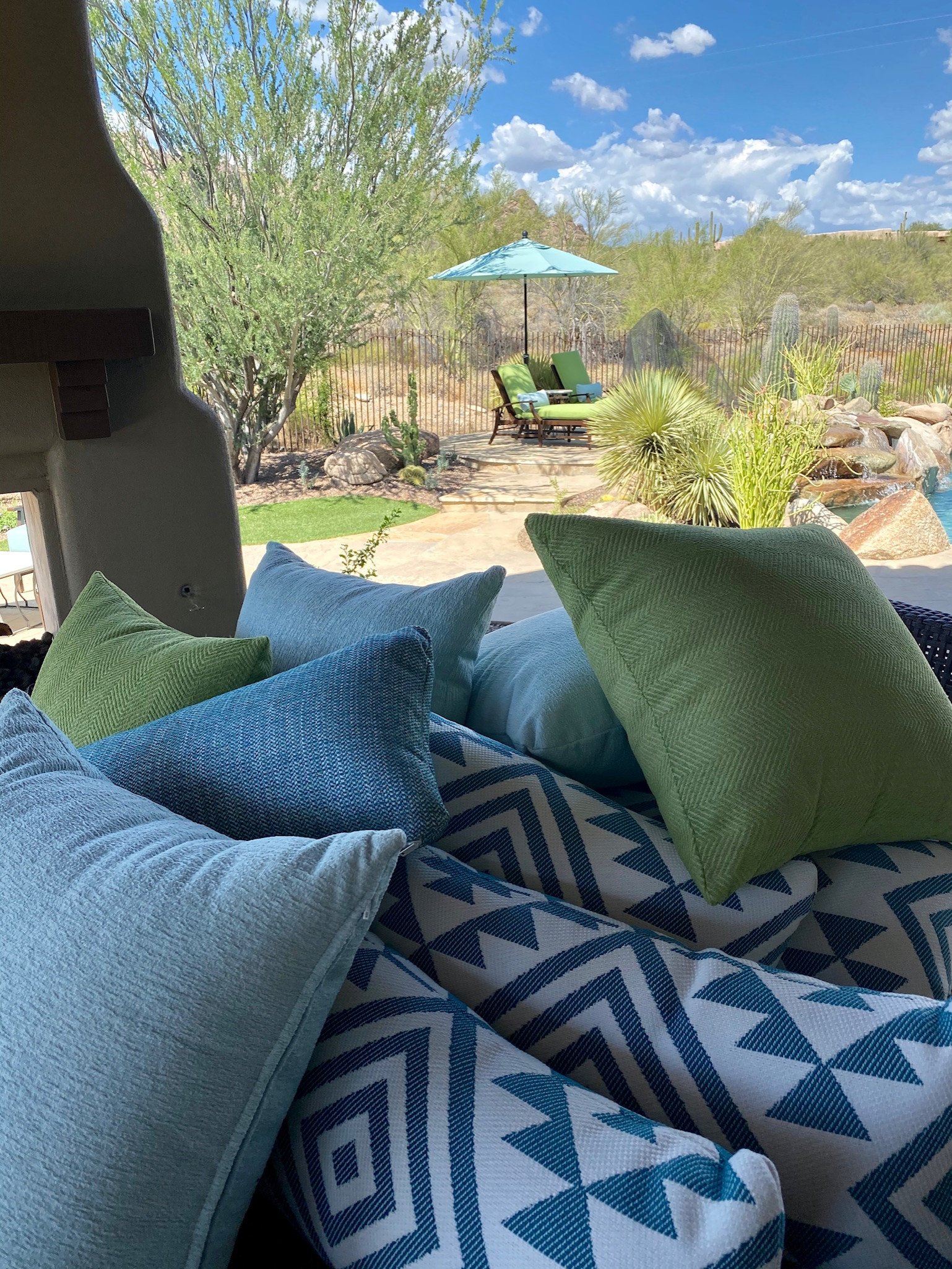 Inspiration for a transitional home design remodel in Phoenix