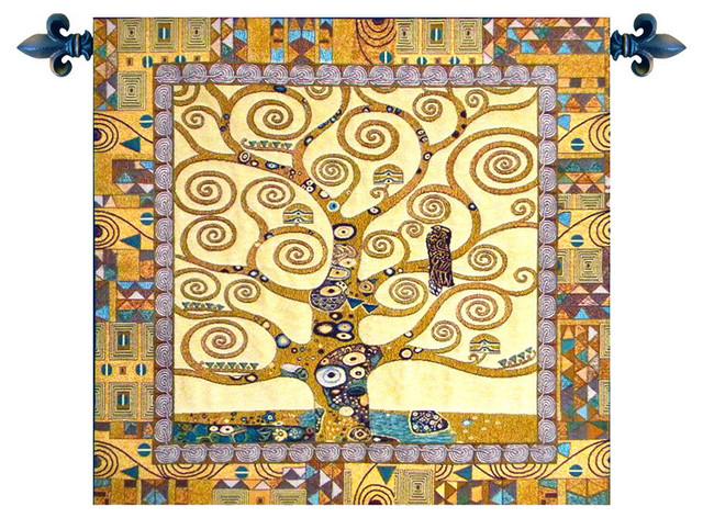 Tree Of Life By Gustav Klimt Italian Wall Tapestry 25 X25