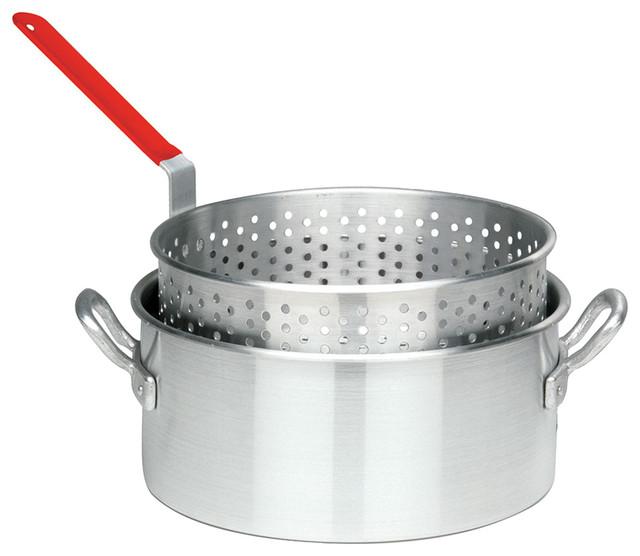 Bayou Classic 10 Quart Aluminum Deep Fryer Pot Modern