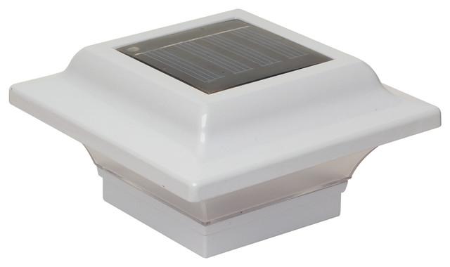 Imperial Solar Post Cap Light, Cast Aluminum LED Deck Light, White, 2-