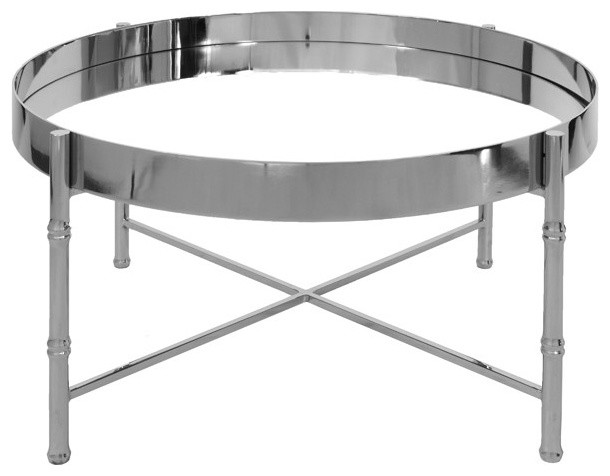 Away Margaret Round Coffee Table Silver Contemporary Coffee Tables