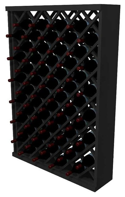 Cassidy Wine Rack, Redwood And Black.