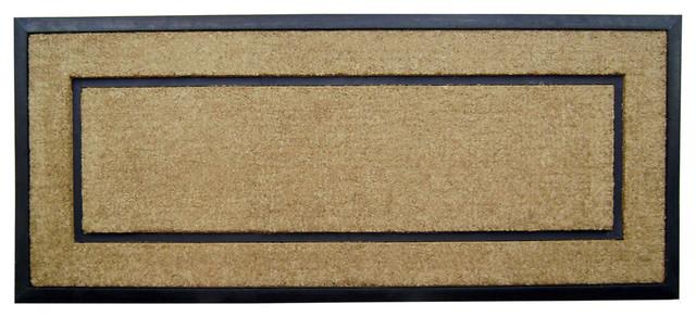 Coir / Rubber Frame Mat, Plain Mat, 24x57x1.