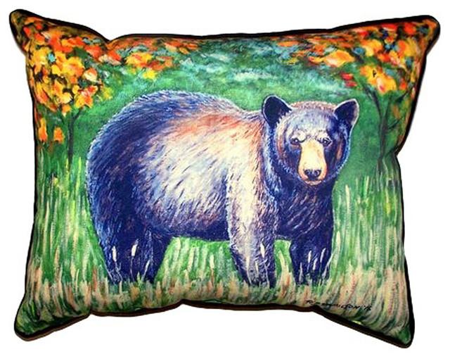 Black Bear Extra Zippered Indoor Outdoor Pillow