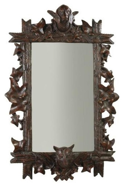 Wall Mirror, Classic Leaves Fox And Hound.