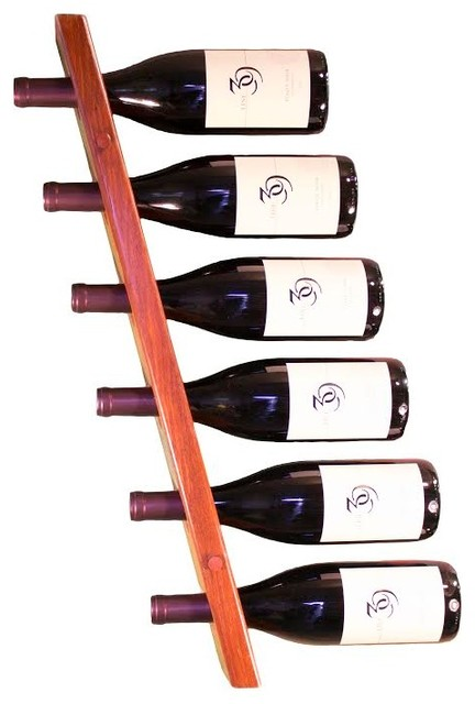 vento wall mount wine rack natural 6 bottle left to right modern