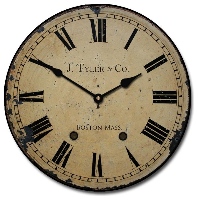 Vintage bathroom mirrors sale - Shop Houzz J Tyler Astor Clock Roman Numerals Wall Clocks