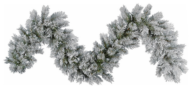 Frosted Pine Artificial Christmas Garland, Unlit, 9'x14 ...