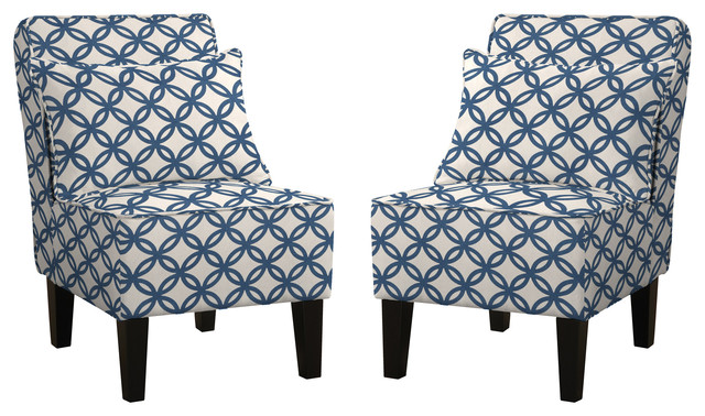 mila accent chairs set of 2 contemporary armchairs and accent
