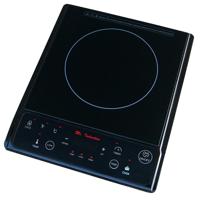 Awesome 1300W Induction Cooktop, Black Contemporary Cooktops