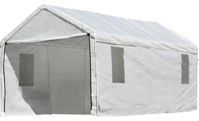 Canopy And Enclosure With Windows 20&x27;x10&x27;, White, Model 23534.