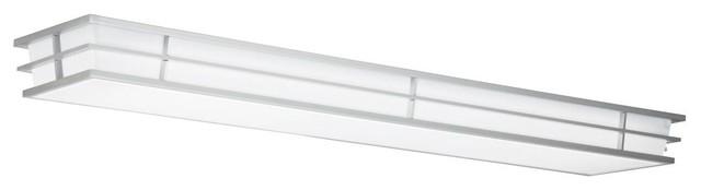 Kichler Pavilion Overhead Linear Fluorescent Light Fixture Silver
