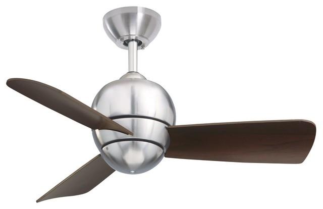Emerson Tilo Outdoor Ceiling Fan, Brushed Steel, One Each.