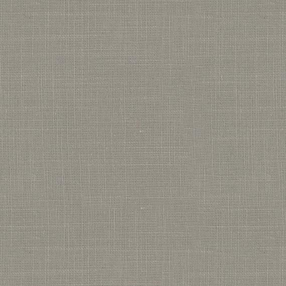 Gray Fine-Woven Linen Blend Fabric