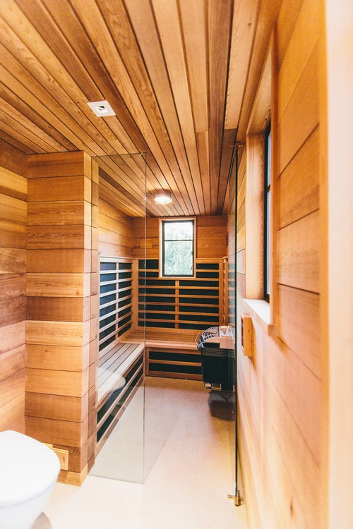 Infrared wet sauna combination