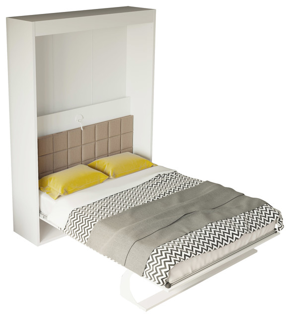 Bellezza Fioritura Full Wall Bed, Semi-Gloss White.