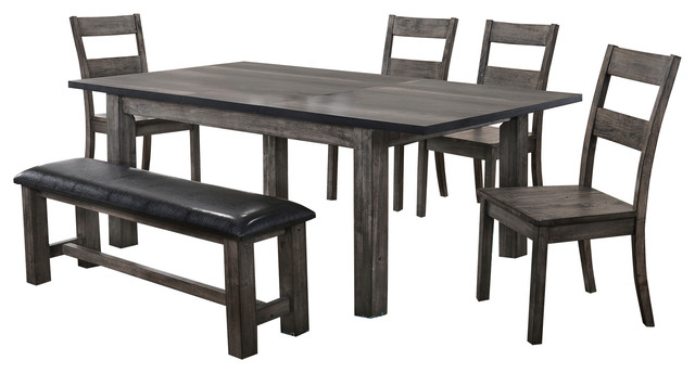 picket house furnishings grayson 6piece dining set - Rustic Dining Set