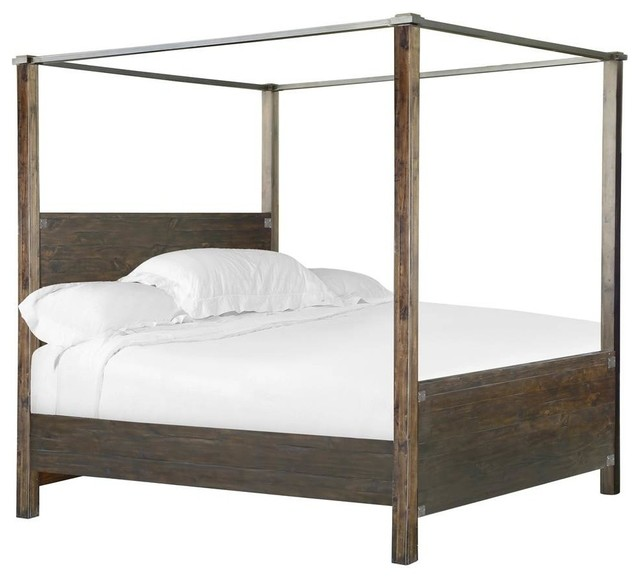 Transitional Poster Bed King 89 X80 X88