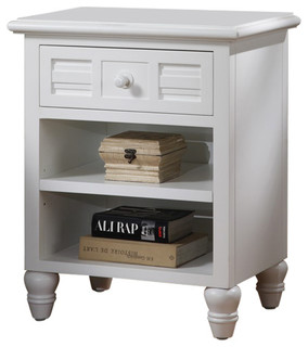 Oceanside 1-Drawer Nightstand With Glass Top