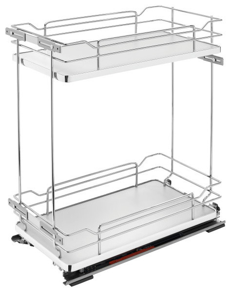 Two-Tier Wire Organizer with Blum Soft-Close, Gray
