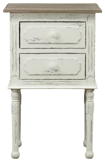 Baxton studio anjou french nightstand nightstands and bedside tables