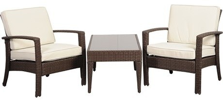 International Home Miami 3-Piece Florida Conversation Set, Brown