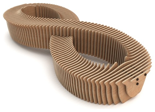 Infinity Bench, CNC Cut Parametric Bench