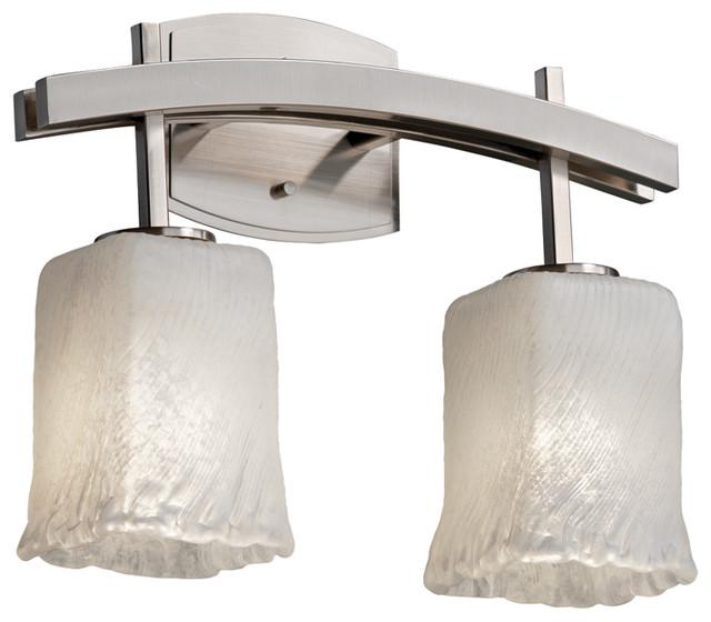 Justice Bathroom Lighting: Justice Design Gla-8592-26 Archway 2-Light Bath Bar-LED