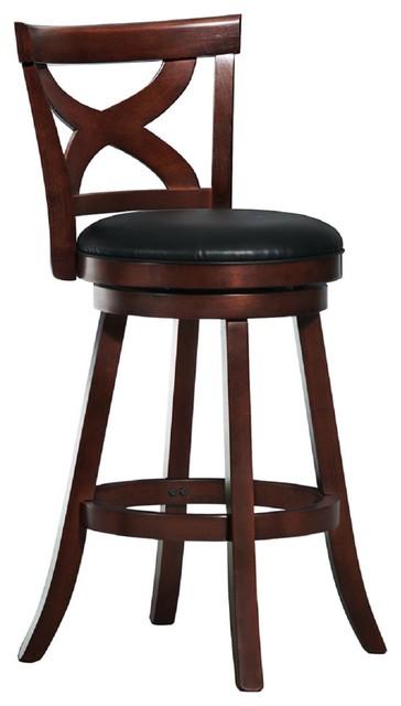 Wondrous Rodney Black Faux Leather Cherry X Back Swivel Stool 29 Bar Creativecarmelina Interior Chair Design Creativecarmelinacom