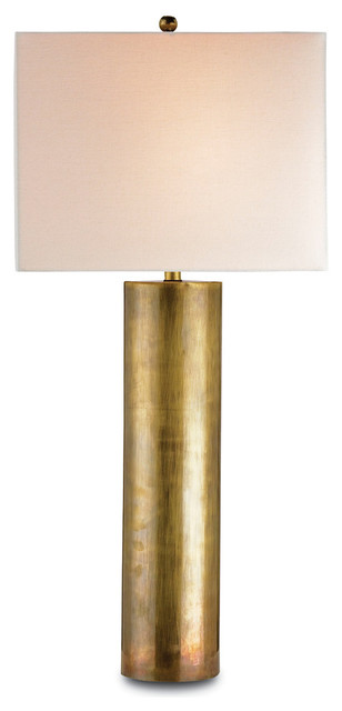 Currey & Co 6504 Constable Vintage Brass Table Lamp.