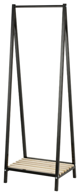 Walter Coat Stand With Shelf, Black