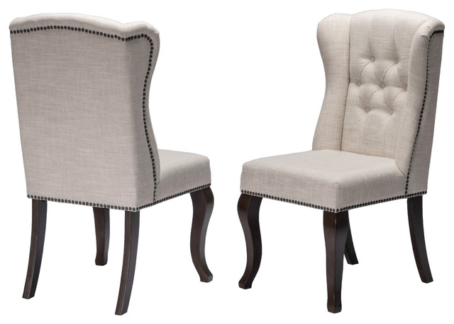 Crafton Tufted Dining Chair Set Of 2 Traditional Dining Chairs