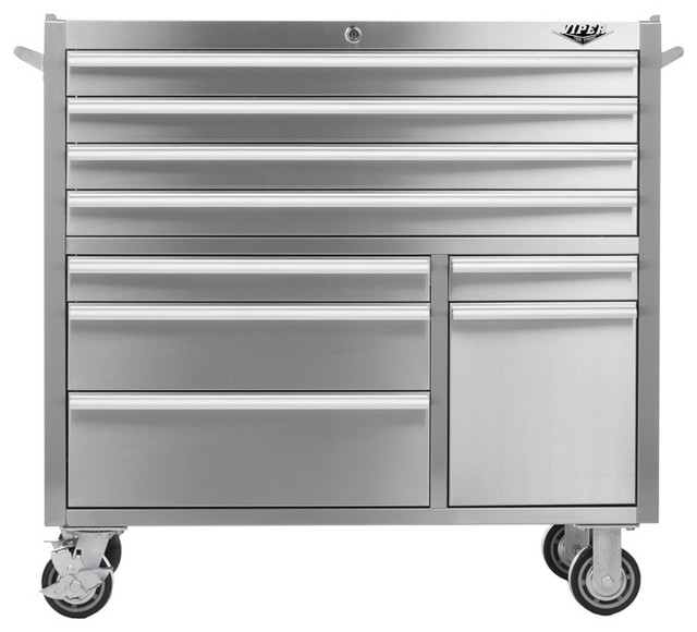 """41"""" 9-Drawer 304 Stainless Steel Rolling Tool Cabinet - Industrial - Garage And Tool Storage ..."""