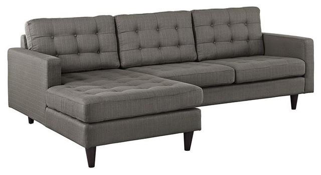 Sensational Dylan Left Facing Upholstered Fabric Sectional Sofa Granite Inzonedesignstudio Interior Chair Design Inzonedesignstudiocom