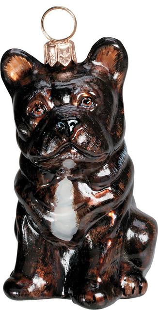 french bulldog ornament black