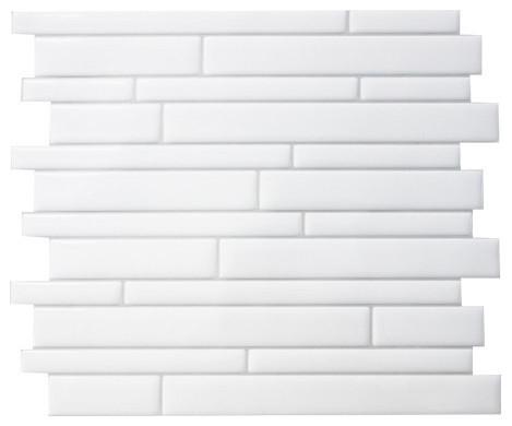 "11.55""x9.63"" Milano Blanco Peel And Stick 3d Gel-O Wall Tiles Mosaik, Set Of 40."