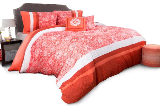 Floral Comforter Set Queen 5 Piece 2 Pillows 2 Shams By Lavish