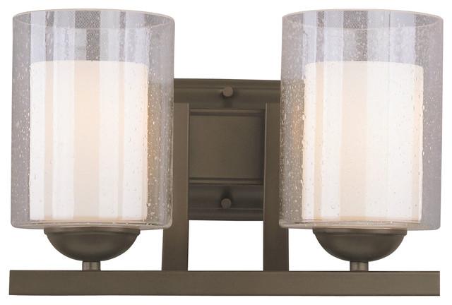 Transitional Bathroom Vanity Lights : Cosmo 2-Light Bathroom Light - Transitional - Bathroom Vanity Lighting - by Woodbridge Lighting Inc.