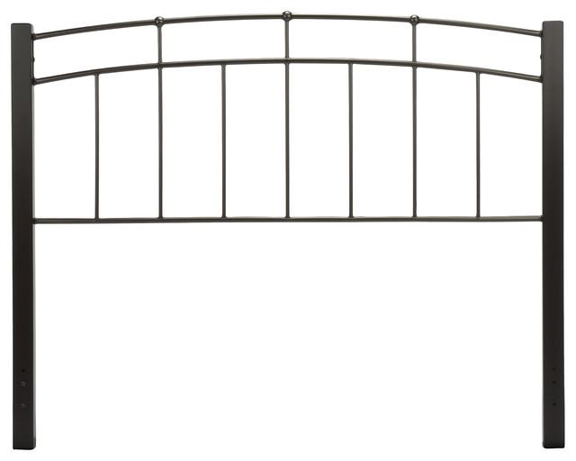 Scottsdale Metal Headboard With Sloping Top Rails, Twin.