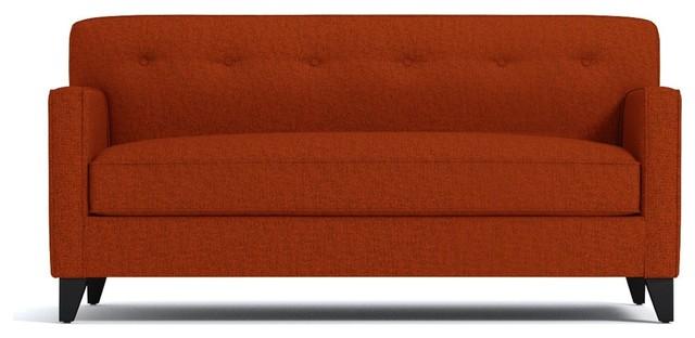Harrison Apartment Size Sofa, Pumpkin, 54x36x35.