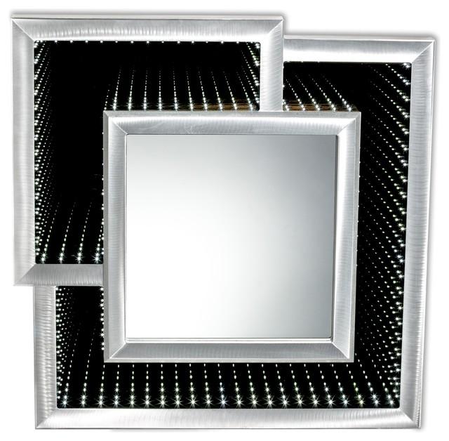 Interlock Infinity Mirror, Silver.