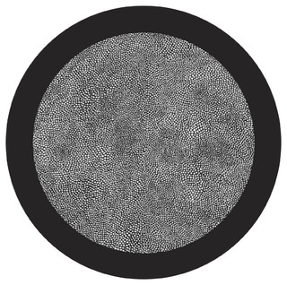 Black And White Shagreen Table Mats Contemporary