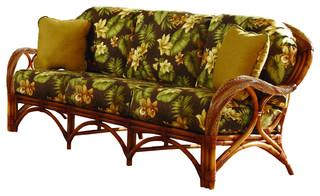 Caneel Bay Sofa in Cinnamon, Set Sail Fabric