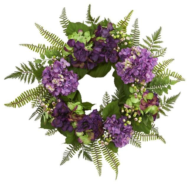 24 Inch Hydrangea Berry Wreath No3