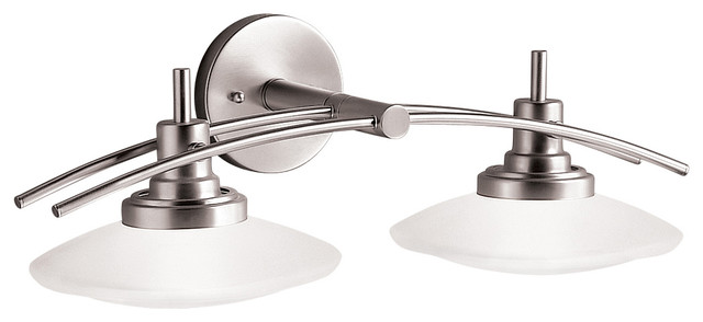 Bath 2-Light Halogen, Brushed Nickel