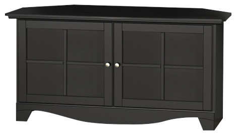 Pinnacle 49 Corner Unit Black Modern Entertainment Centers And Tv Stands By Nexera