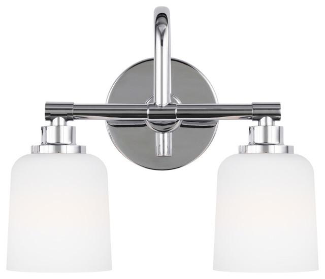 newest collection b7cbf 8fd9b Feiss 2-Light Vanity-Light Fixture, Chrome